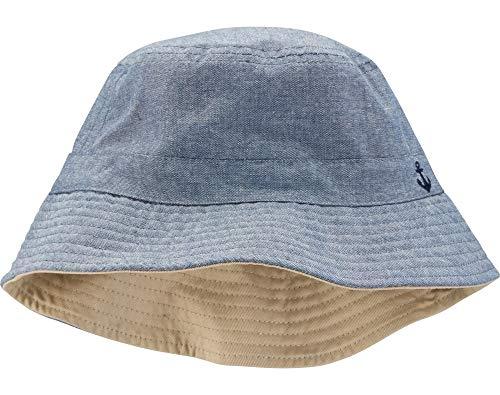 Carter's Boys UPF Bucket Hat (Chambray/Khaki, 12-24 Months)