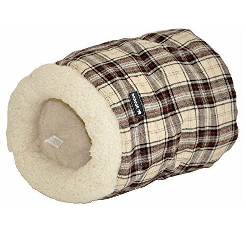 """nanook niche corbeille poche pour chats / rongeurs """"Tommy"""" marron beige - Taille M - 35 x 30 cm"""