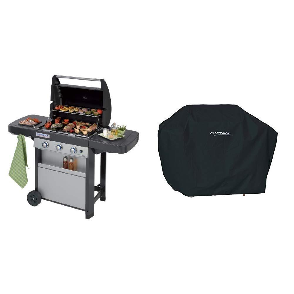Campingaz 3 Series Classic L, Barbecue a Gas, Nero Grigio + Campingaz Y980000000 Regolatore di pressione del gas accessorio per barbecue grill