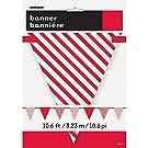 12ft Red Stripe & Polka Dot Paper Pennant Banner