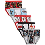 Handcraft Little Boys' Power Rangers  Brief (Pack of 5), Assorted, 6