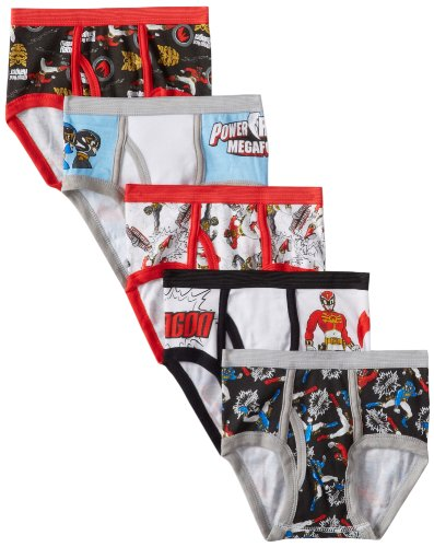 Handcraft Little Boys' Power Rangers  Brief (Pack of 5), Assorted, 4 (Power Ranger Clothes)