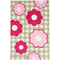 KidKraft Kids Yarn Dyed Cottage Flowers Rug, Pink, 3 x 5