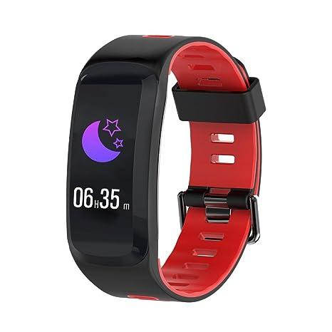 Huang Dog F4 Fitness Tracker Smart Pulsera Corazón Frecuencia – Tensiómetro Podómetro Hombres & Mujeres Deportes