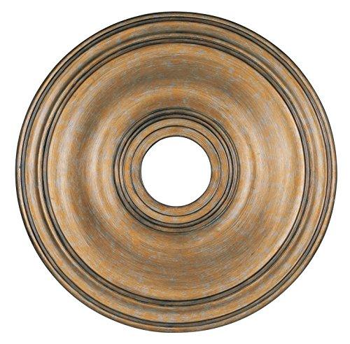 Livex Lighting 8219-48 Ceiling Medallion, Antique Gold - Transitional Gold Leaf