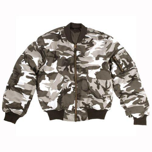Coated Twill Jacket (Mil-Tec MA-1 Flight Jacket Urban size S)