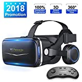 Pansonite Vr Headset with Remote Controller[New Version],...