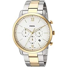 Fossil Men's 'Neutra Chrono' Quartz Stainless Steel Casual Watch, Color:Silver-Toned (Model: FS5385)