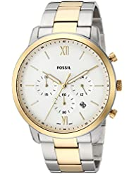 Fossil Mens Neutra Chrono Quartz Stainless Steel Casual Watch, Color Silver-Toned (Model: FS5385)