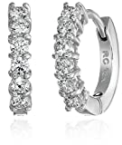 Roberto Coin Perfect Diamond 18k White Gold Huggy Hoop Earrings (5/8cttw, G-H Color, SI1 Clarity)
