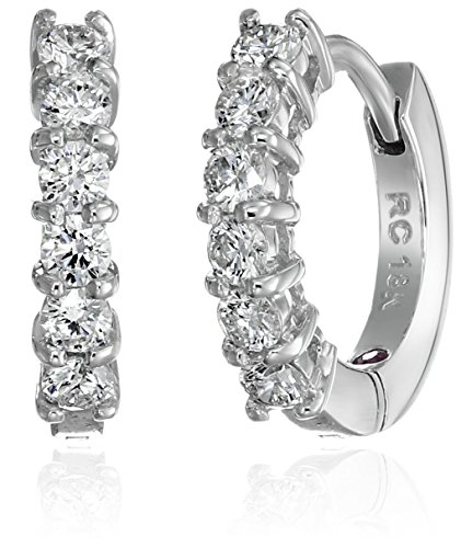 Roberto Coin Perfect Diamond 18k White Gold Huggy Hoop Earrings (5/8cttw, G H Color, SI1 Clarity)