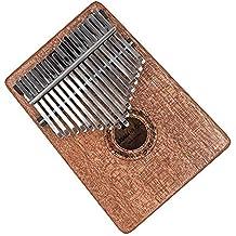 Kalimba Thumb Piano 17 key Finger Piano Mahogany Mbira Musical Instrument with Tune Hammer