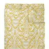 Company C Axelle Duvet Cover, Full/Queen, Gold