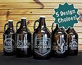 Personalized Etched Groomsmen Beer Growler 64oz