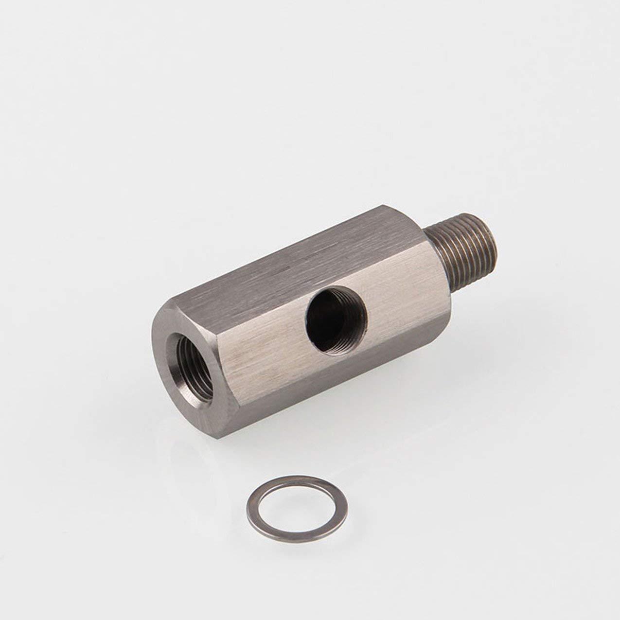1//8 Bspt Oil Pressure Sensor Tee to Npt Adapter Turbo Supply Feed Line Gauge Market Trend Gold