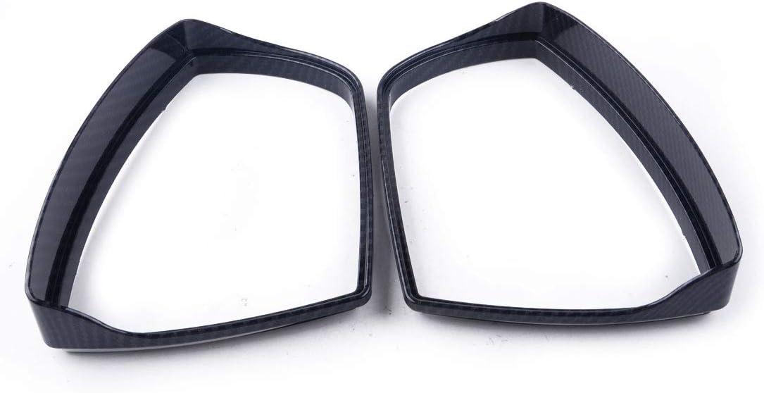 LETAOSK 2pcs Door Wing Mirror Cover Trim Rainproof Visor Guard Fit For Ford Focus RS ST MK3 2012-2019