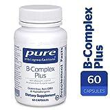 Pure Encapsulations – B-Complex Plus – Balanced B Vitamin Formula with Metafolin® L-5-MTHF and Vitamin B12-60 Capsules Review