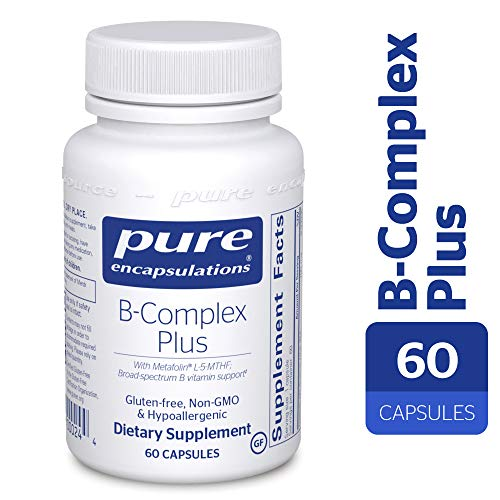 60 Capsules Therapy - Pure Encapsulations - B-Complex Plus - Balanced B Vitamin Formula with Metafolin® L-5-MTHF and Vitamin B12-60 Capsules