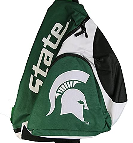 NCAA Michigan State Spartans Slingback Sling Bag Green and White - State Sling Backpack