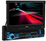 BOSS Audio Elite BV860B Car DVD Player - Single Din, Bluetooth Audio/Hands-Free Calling, Built-in Microphone, DVD/CD/MP3/USB/SD AUX-In, Am/FM Receiver, 7 Inch LCD, Multi-Color Illumination