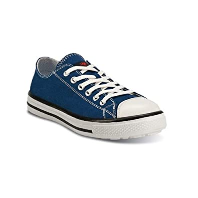 6060fc603e48d Basket Basse de sécurité Bleu S1P Style Converse - Blues Low (40 ...