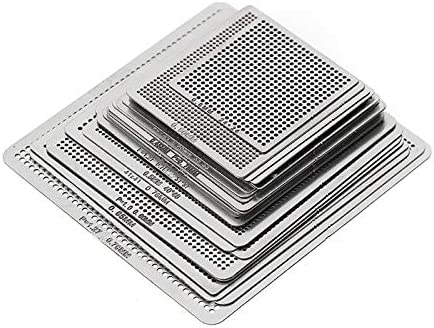 27Pcs BGA Stencils Universal Direct Heated Stencils For SMT SMD Chip Rpair LSD Tool