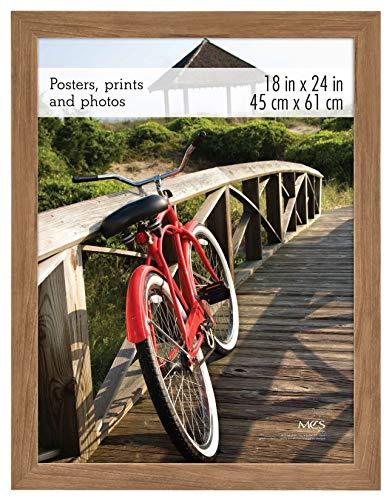 24 Inch Wood - MCS 68861 Museum Poster Frame Medium Oak Woodgrain 18x24 Inch, 1 Frame