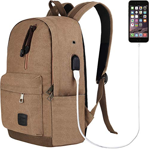 Doingbag Unisex-Adult Hiking Laptop Backpack USB Charging Port Waterproof Camping Outdoor