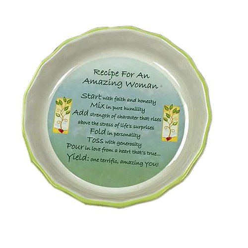 Amazing Woman Pie Plate