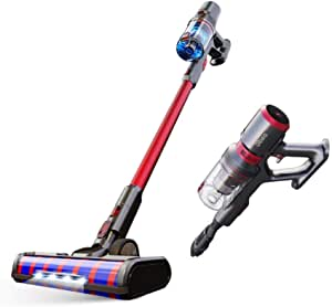 [1 Year Local Warranty] FREE ANTI DUSTMITE BRUSH -Dibea F20 Max Flagship Product Lightweight Cordless Stick Vacuum Cleaner,Red