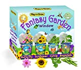 Children's Organic 4 Plant Kit - Fantasy Window Garden from PlaynGrow - Four Complete Pre-Seeded Indoor Grow Sets - Seeds, Soil, Planter, Greenhouse Dome, Water Tray & Cup, Growing Guide, Diary.