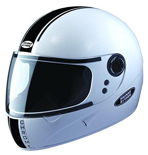 Studds Chrome Economy SUS_CEBFH_WHEL Full Face Helmet (White, L)