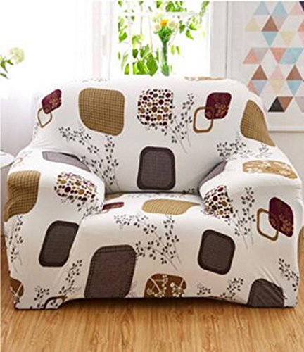 YJBear 1 PC European Lovely Cartoon Bear Duck Printed Polyester Spandex Furniture Cover Slip Resistant Strapless Stretch Chair Loveseat Sofa Protector Shield White 92.5