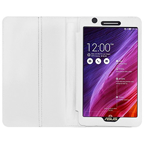Acm Executive Case for Asus Fonepad 7 Fe171cg Tablet Flap Cover Stand White Touch Screen Tablet Bags   Cases