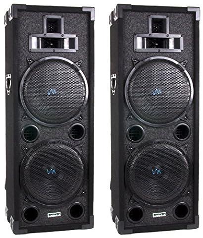 New VM Audio VAS4210P 2200 Watt 4-Way Dual 10