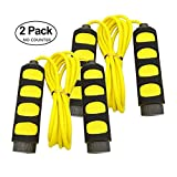Cheap KINGSOO Jump Rope,2 Pack Speed Jump Rope Kid,Adjustable Lightweight Rope for Heart Boxing Equipment Exercise (2PACK-Yellow)