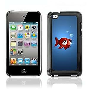 Carcasa Funda Case // V0000476 Funny 3D Animals - Fish // Apple iPod Touch 4 4G 4th