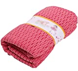 MLG Multi Purpose Set of 3 Drying Rags No Mildew Smell Tidy Absorbent Odor-Free Soft Antibacterial Kitchen Dishcloths Red