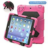 iPad Mini Case,iPad Mini 2 Case,iPad Mini 3 Case,ACEGUARDER iPad Mini Pretection Case Durable Shockproof Anti-Dirt Drop Resistance Case for Kids (Pink)