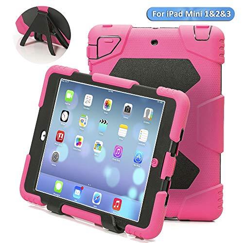 iPad Mini Case,iPad Mini 2 Case,iPad Mini 3 Case,ACEGUARDER iPad Mini Pretection Case Durable Shockproof Anti-Dirt Drop Resistance Case for Kids (Pink)