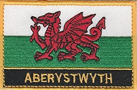 Aberystwyth Cymru Wales Town /& City Embroidered Sew on Patch Badge