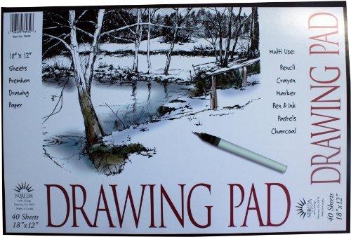 Norcom Drawing Pad, 18 x 12 Inches, 40 Sheets, Weiß (78932-9) by Norcom Inc. (English Manual) B00NZGTB92    | Preisreduktion