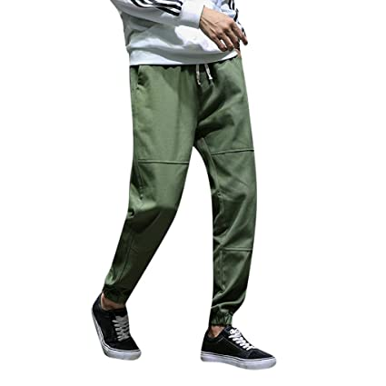 794ab405f7f Image Unavailable. Image not available for. Color  Men Pants Men s Casual  Loose Stretch Baggy Pocket Beach Work Short Fashion Sport Overalls Trousers  ...