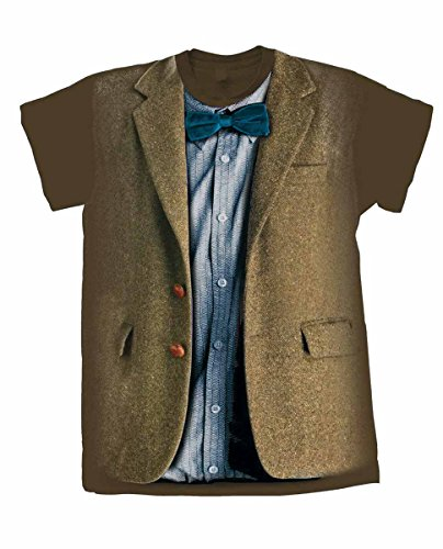 [Doctor Who Matt Smith 11th Doctor Costume Mens T-Shirt (Large)] (Matt Smith Costume)