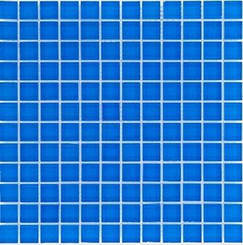 Glasmosaik Fliesen Blau Uni Wand Boden Dusche WC Küche Matten - Glasmosaik fliesen blau