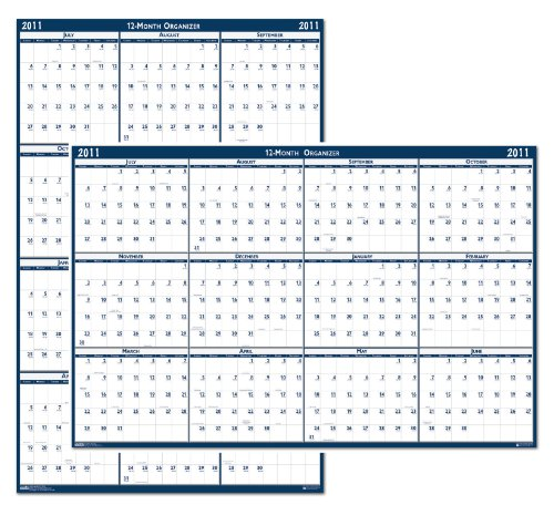 "House of Doolittle Laminated Poster Style Yearly Wall Calendar, January-December, 2018, 66"" x 33"" 2018"
