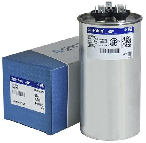 Upgraded Replacement for Lennox Armstrong Ducane Round Capacitor 60/7.5 440 Volt 89M85 89M8501