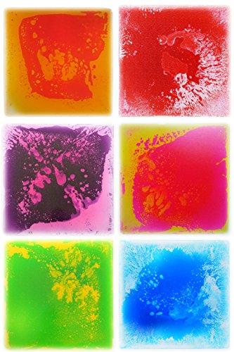 Multicolor Liquid Floor Tiles Sensory Stimulation (6 Pack) - 15.8 sqft