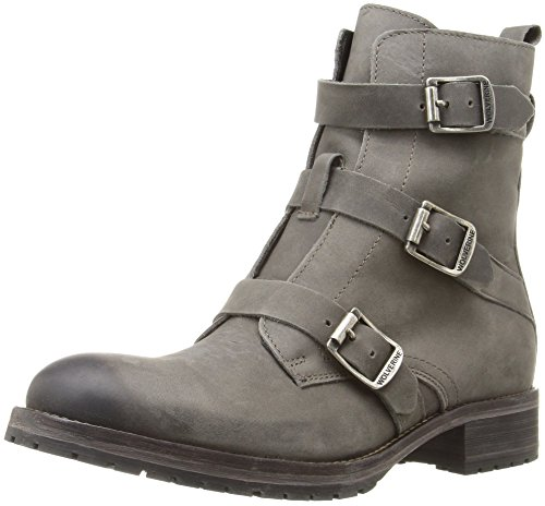 1883 by Wolverine Women's Lizzie Combat Boot, Grey, 7.5 M US - Leather Waterproof Combat Boots