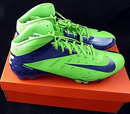 0fd9165a214 Russell Wilson Autographed Signed Nike Cleats Shoes Seattle Seahawks RW  Holo - Certified Certified124634